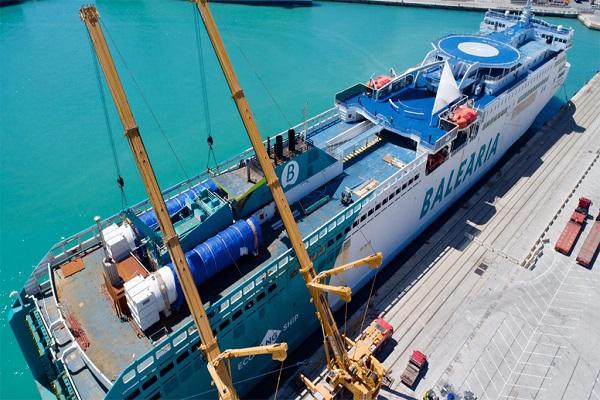 Baleària finalizará la remotorización del ferry Abel Matutes en junio