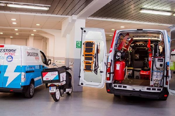 First Stop vehículo-taller cargas eléctricas emergencia
