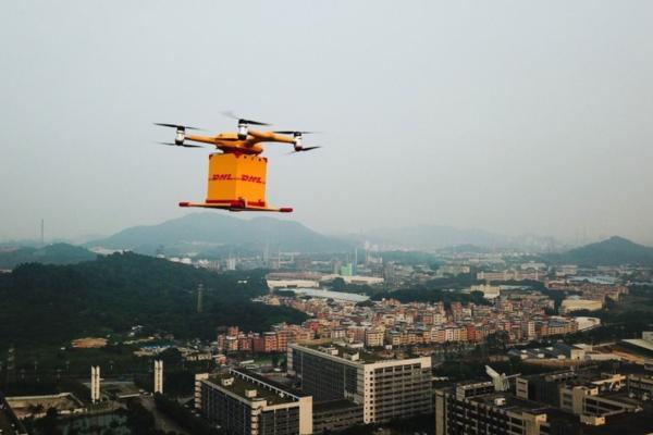 dhl express ehang drones