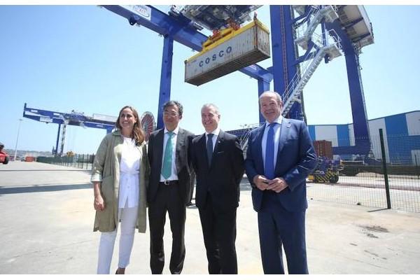 Cosco inaugura terminal ferroviaria en el Puerto de Bilbao