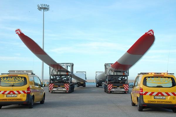Puerto de Motril aumenta exportación de palas para aerogeneradores fabricadas en España