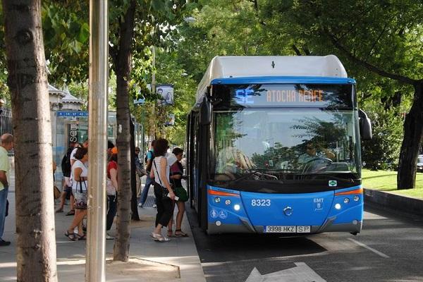 Madrid autobuses pago biométrico