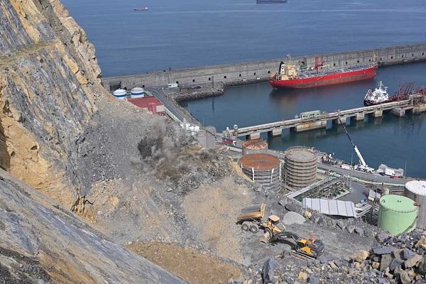 Puerto de Bilbao finalizará primera fase del espigón central en septiembre