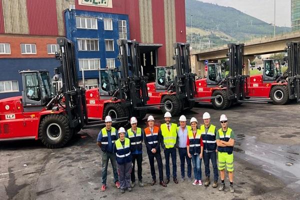 SLP instala cinco carretillas elevadoras de Kalmar en Puerto de Bilbao
