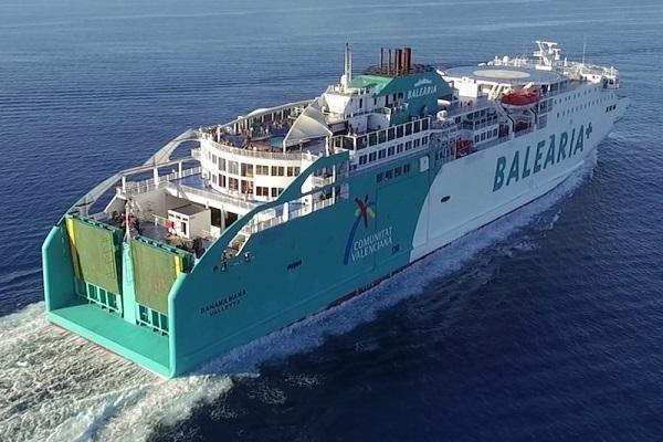 Baleària remotoriza ferry Bahama Mama para que propulse GNL