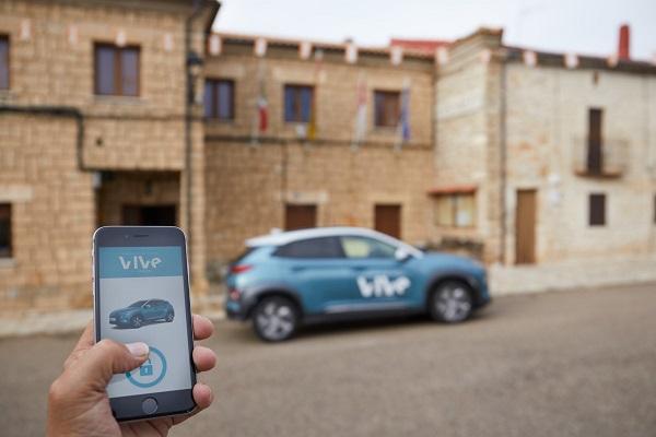 Hyundai VIVe carsharing rural eléctrico