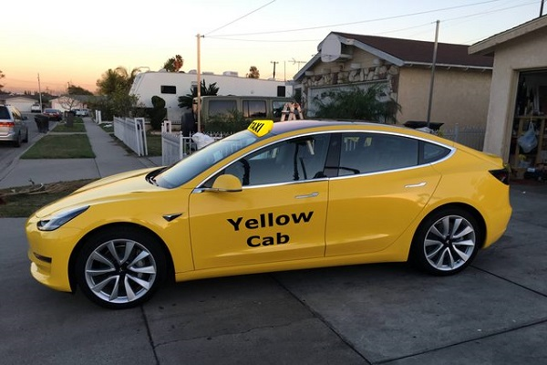 Tesla Model 3 Nueva York taxi