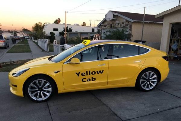 Tesla Model 3 Nueva York taxi