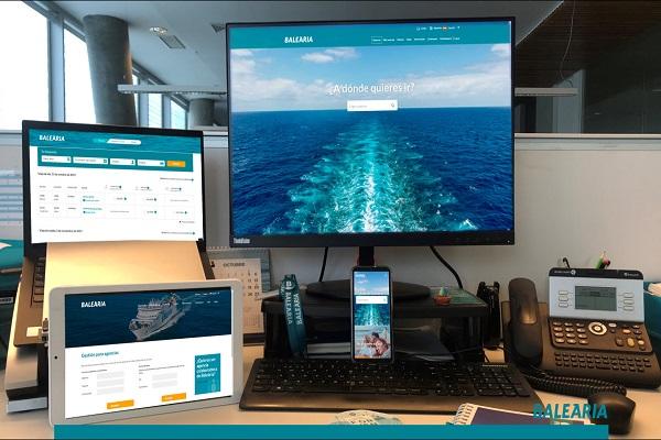 Baleària actualiza su página web para ofrecer un mejor servicio
