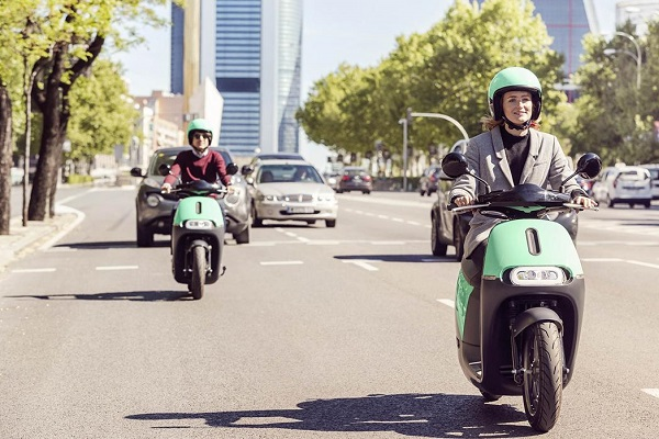Coup motosharing eléctrico
