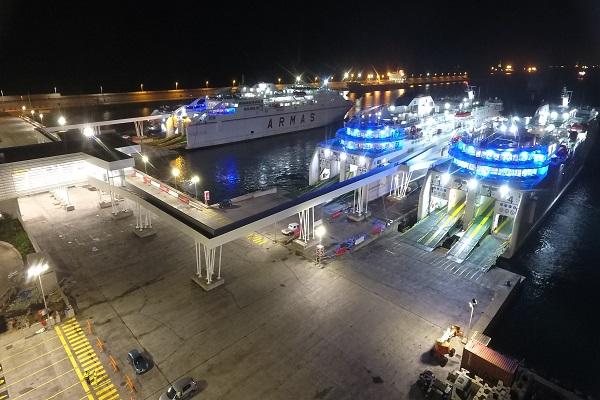 Nueva terminal de Armas Trasmediterránea está operativa en Puerto de Las Palmas