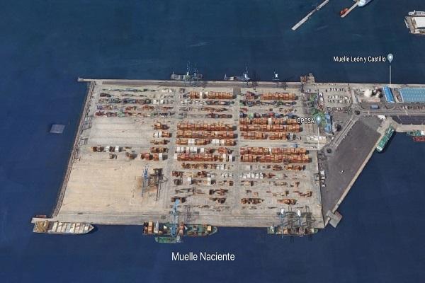 Puerto de Las Palmas progresa en la instalación de grúa Super Post Panamax