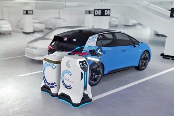 Volkswagen robots para cargar vehiculos