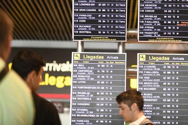 Madrid Barajas retrasos enero 2020