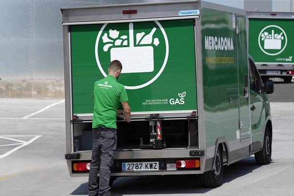 Mercadona camión eléctrico reparto a domicilio