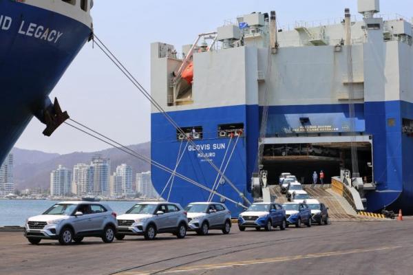 puerto de Santa Marta vehiculos