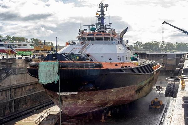 Astilleros del Guadalquivir preparan un remolcador de MSC