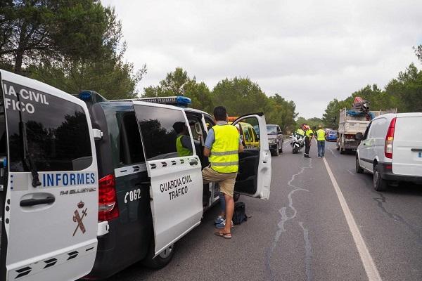 Accidentes de tráfico España confinamiento