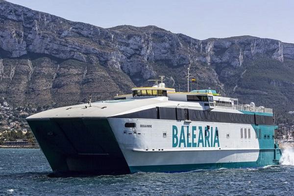 Baleària reinicia la ruta de alta velocidad entre Denia y Baleares