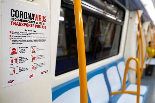 Coronavirus transporte público España