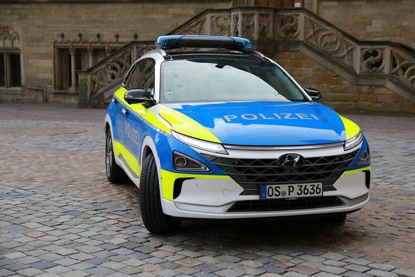 Hyundai Nexo Policía Europa