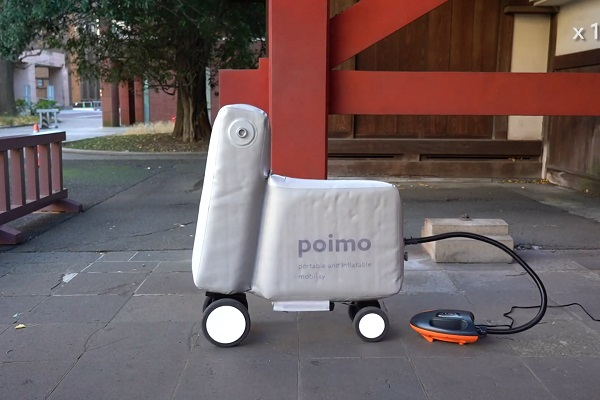 Poimo bicicleta eléctrica inflable