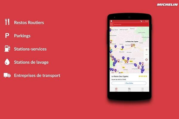 TruckFly Michelin transporte app