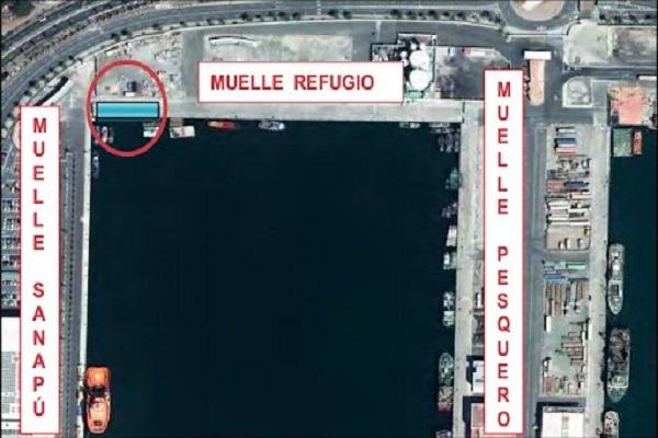 El puerto de Las Palmas amplía la línea del muelle Refugio