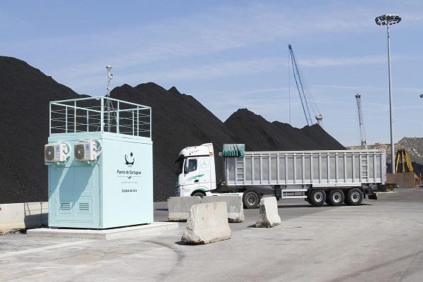 El puerto de Cartagena cuenta con dos estaciones medidoras de contaminantes en Escombreras
