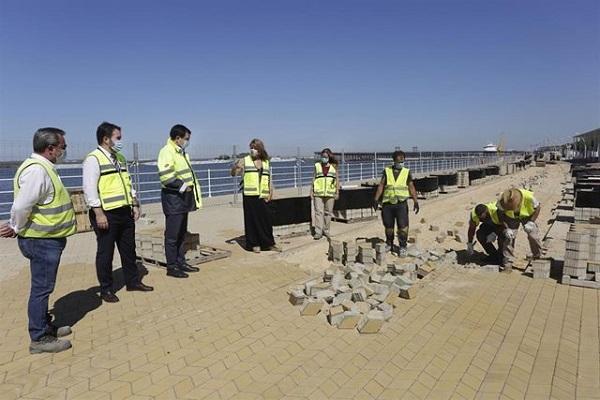El puerto de Huelva empieza la última fase en el Paseo de la Ría