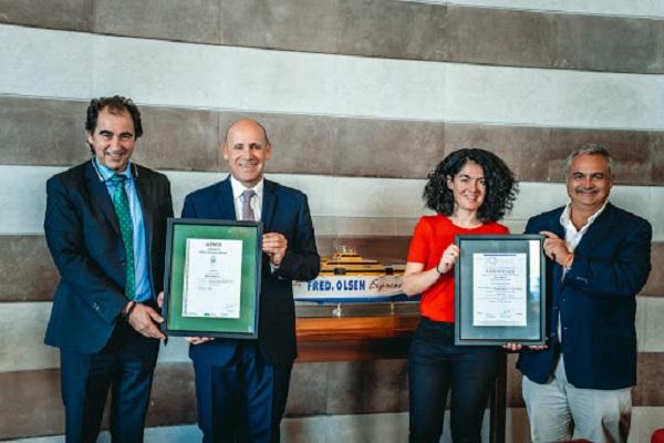 Fred Olsen Express recibe el certificado de AENOR
