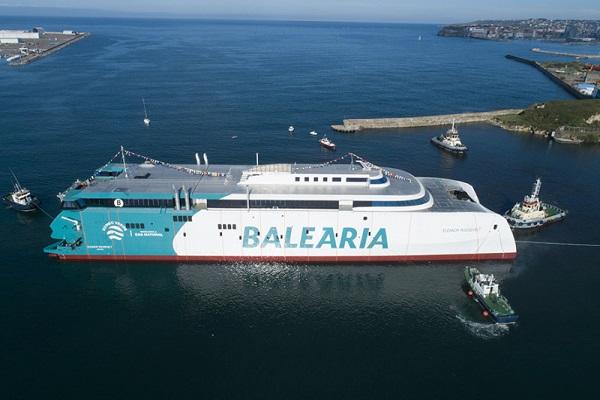 Baleària prueba el primer fast ferry del mundo propulsado por gas natural