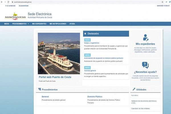 El puerto de Ceuta estrena nueva sede electrónica para la tramitación telemática