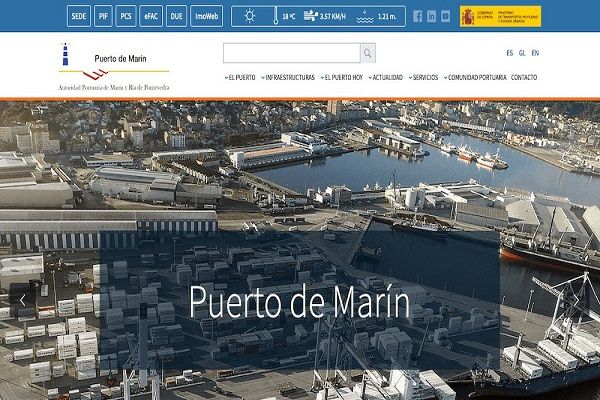 El puerto de Marín presenta su nueva página web