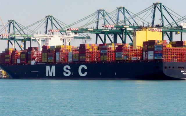 msc sixin logra un record en el puerto de valencia