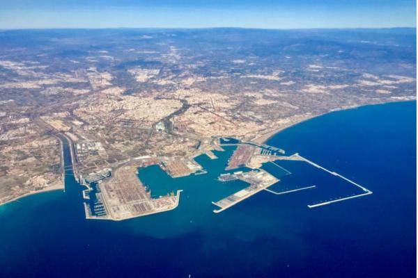 vista panoramica de valenciaport