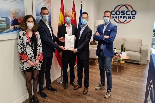Cosco Shipping consigue certificado de sostenibilidad ambiental en sus instalaciones españolas