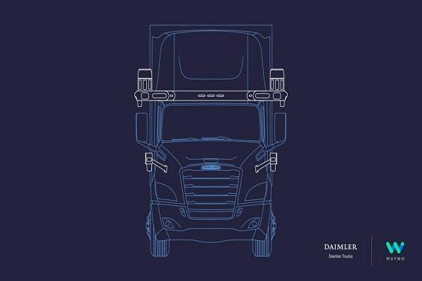 Daimler prueba el desarrollo de camiones autónomos junto con Waymo