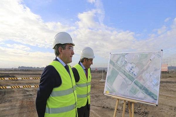 El puerto de Sevilla progresa en la construcción de su nueva terminal sur