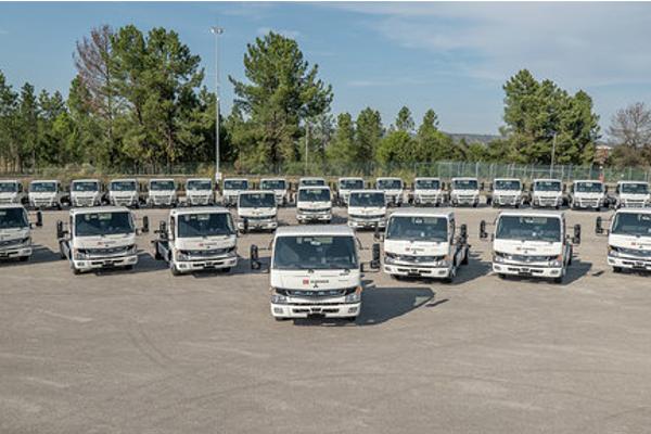flota de camiones para db schenker