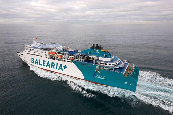 Baleària inicia la adaptación a GNL de su ferry Martín i Soler