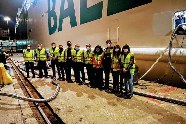 El Puerto de Almería gestiona su primer bunkering de GNL a Balearia