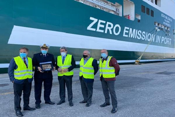 El Puerto de Valencia recibe el primer buque híbrido de Grimaldi