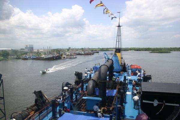 puerto de Chiapas draga