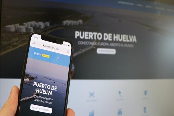 El Puerto de Huelva da nuevos aires a su página web