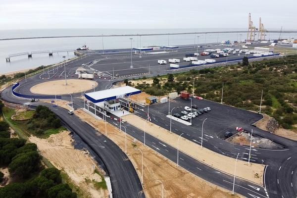 El Puerto de Huelva terminará el acceso al muelle sur en marzo