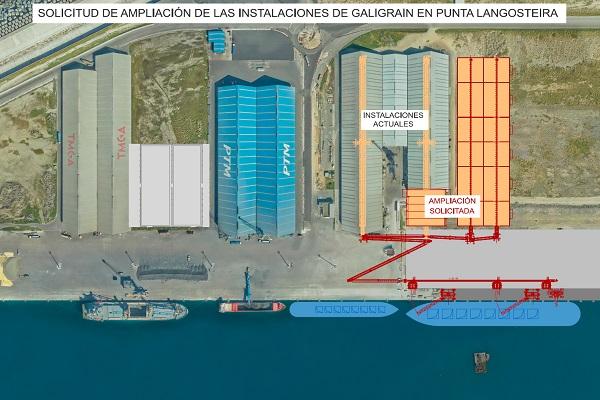 El Puerto de La Coruña apoya la ampliación de las instalaciones de Galigrain
