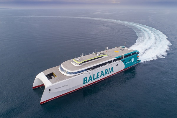 Baleària aplaza el estreno del buque Eleanor Roosevelt al mes de abril
