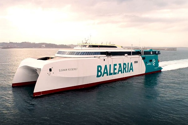 Baleària realiza pone a prueba su nuevo buque 'Eleanor Roosvelt'