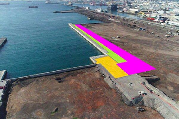 El Puerto de Las Palmas amplía la zona de maniobras del muelle Juan Sebastián Elcano